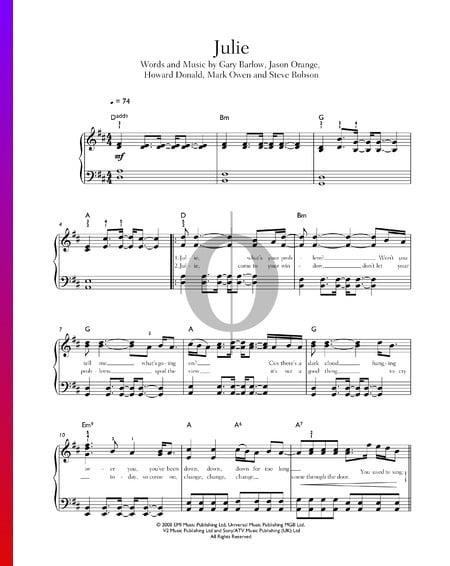 Julie Sheet Music
