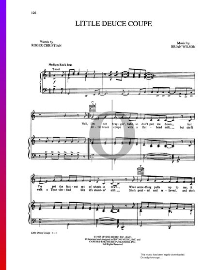 Little Deuce Coupe Sheet Music