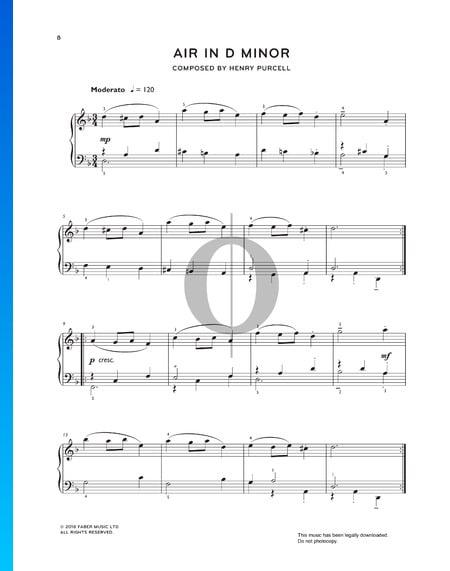 Air d-Moll, ZT 676 Musik-Noten