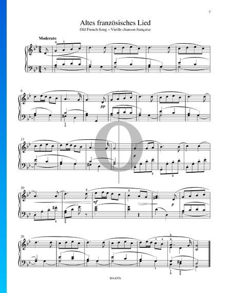 Antigua canción francesa, Op. 39 Partitura