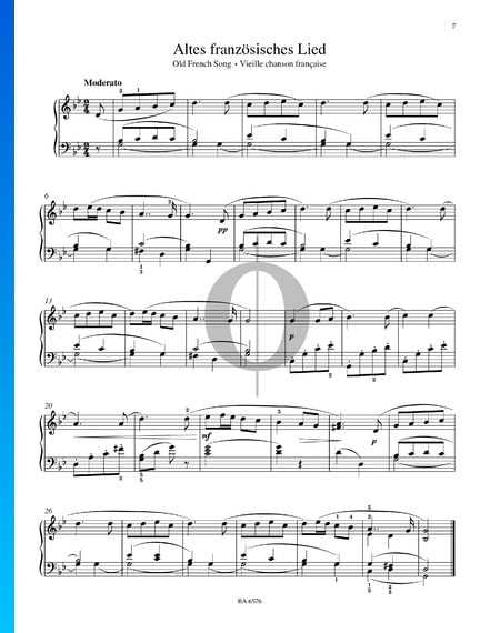 Vieille Chanson Française, Op. 39 Partition