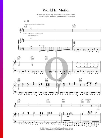 World In Motion Sheet Music