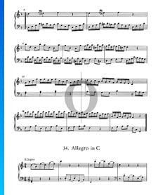 Allegro in C-Dur, Nr. 34