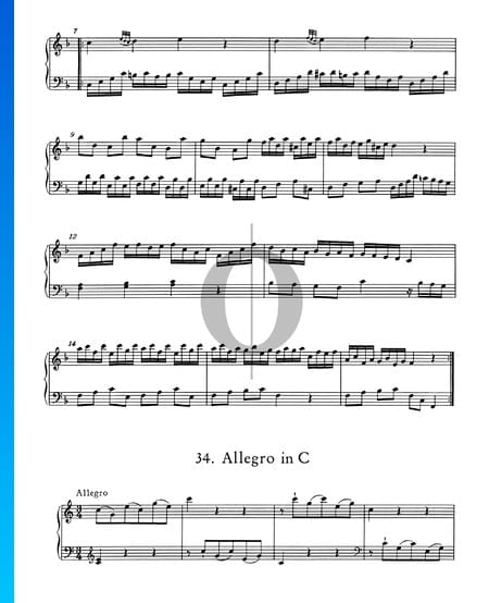 Allegro in C Major, No. 34 Sheet Music
