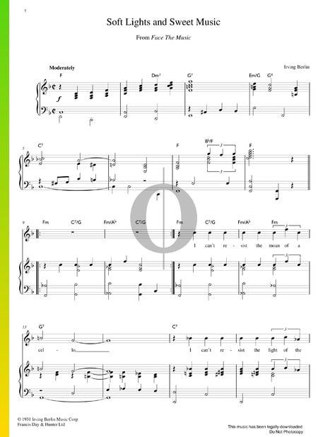 Soft Lights And Sweet Music Musik-Noten