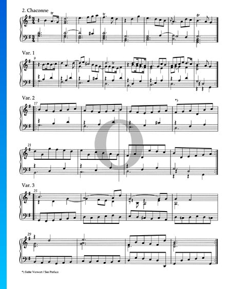 Prelude and Chaconne G Major HWV 442: 2. Chaconne with Variations Sheet Music