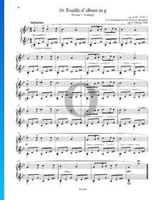 Feuille d' album in G Minor, Op. posth. 74 No. 2