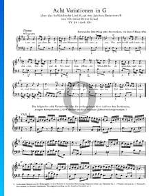 Huit Variations en Sol Majeur, KV 24 (Anh. 208)