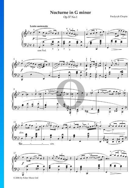 Nocturne en Sol mineur, Op. 37 No. 1 Partition