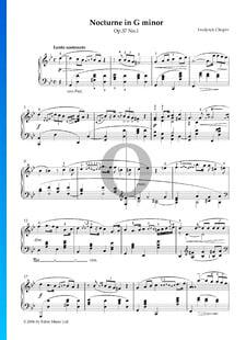 Nocturno en sol menor, Op. 37 n.º 1