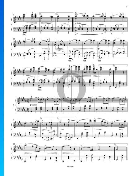 Sechzehn Walzer, Op. 39 Nr. 3 Musik-Noten
