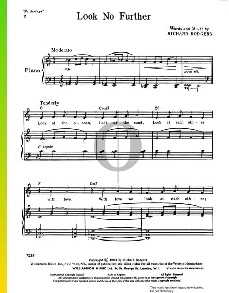 Look No Further Sheet Music