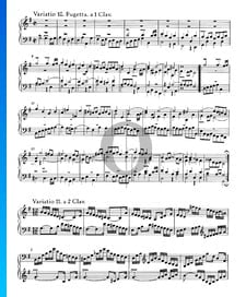 Goldberg Variationen, BWV 988: Variatio 11. a 2 Clav.