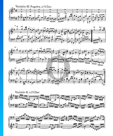 Goldberg Variationen, BWV 988: Variatio 11. a 2 Clav. Musik-Noten