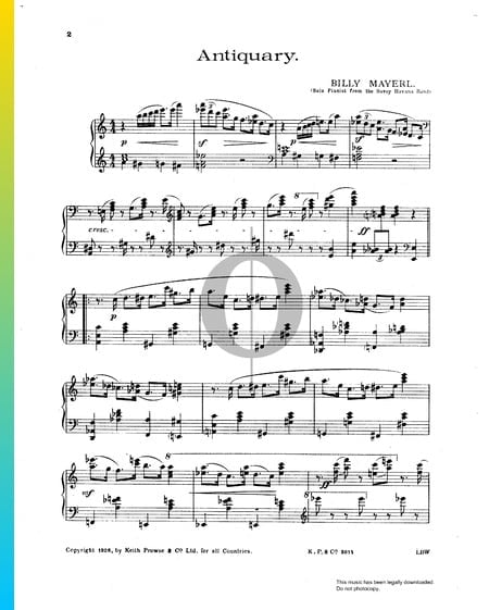 Antiquary Sheet Music