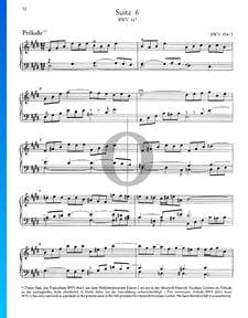 Französische Suite Nr. 6 E-Dur, BWV 817: 2. Prélude