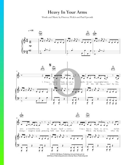 Heavy In Your Arms Sheet Music