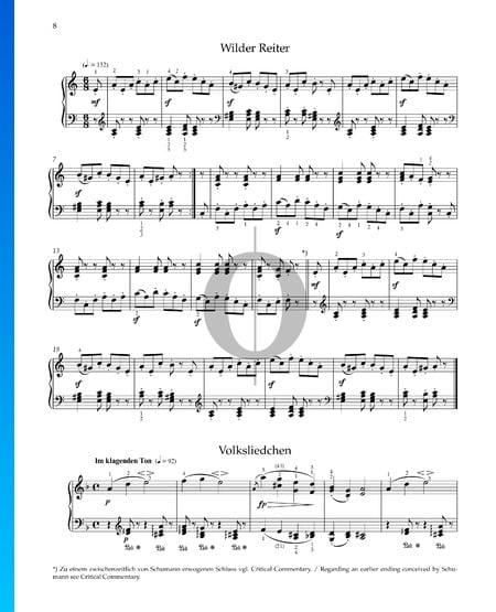 Wilder Reiter, Op. 68 Nr. 8 Musik-Noten