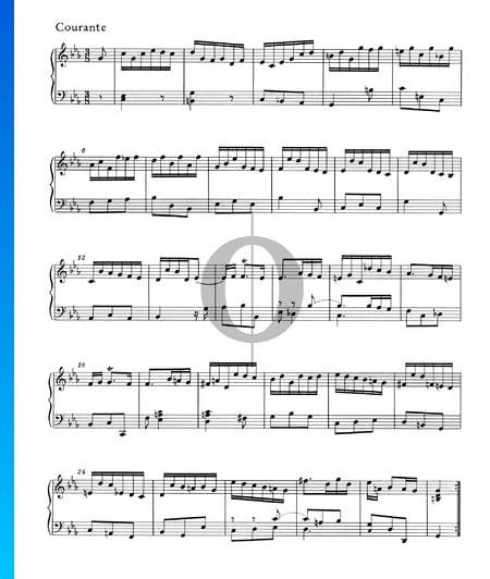 Partita c-Moll, HWV 444: 3. Courante Musik-Noten