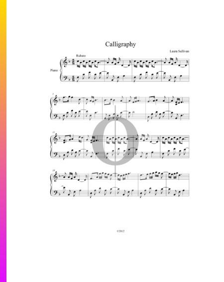 Calligraphy Sheet Music