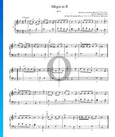 Allegro en Si bémol Majeur, KV 3