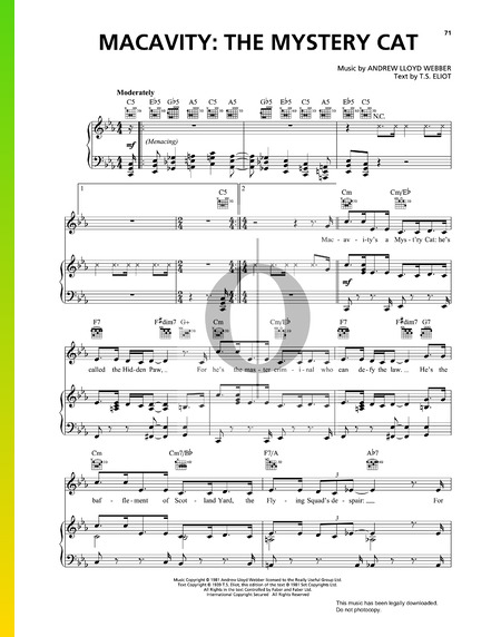 Macavity: The Mystery Cat Sheet Music