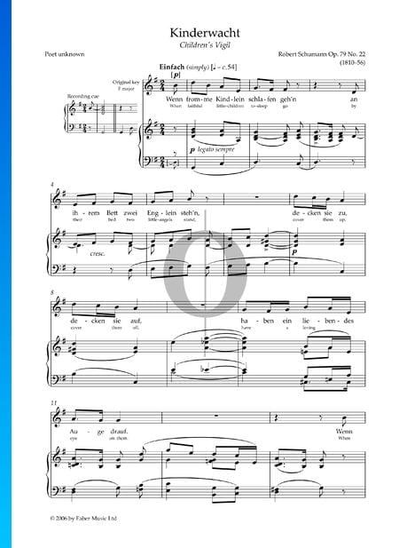 Kinderwacht, Op. 79 Nr. 22 Musik-Noten