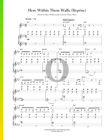 Here Within These Walls (Reprise) Sheet Music
