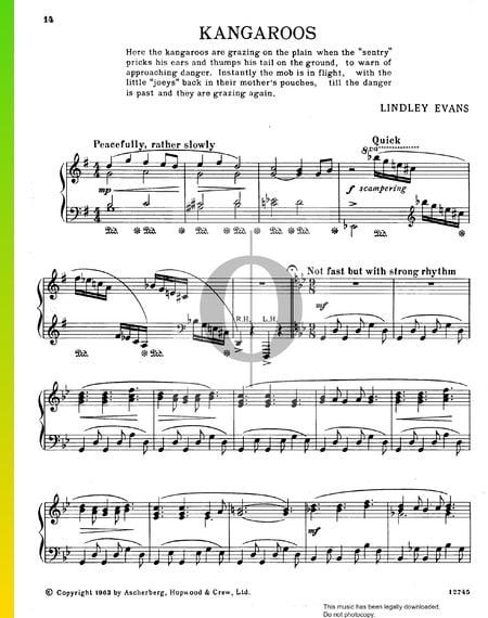 Kangaroos Musik-Noten