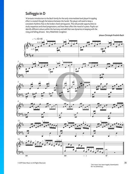 Solfeggio in D-Dur Musik-Noten