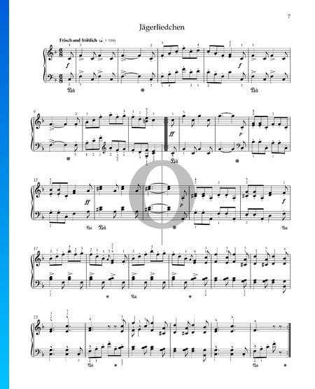 Hunting Song, Op. 68 No. 7 Sheet Music