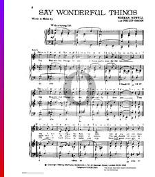 Say Wonderful Things