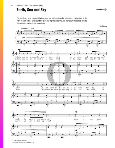 Earth Sea and Sky Sheet Music