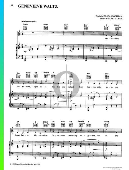 Genevieve Waltz Sheet Music