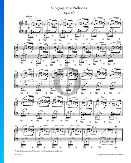 Prelude in C Major, Op. 28 No. 1 Sheet Music
