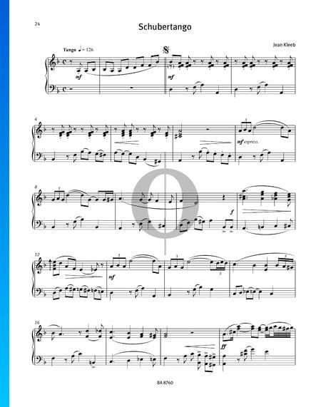 Schubertango Musik-Noten