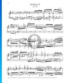 Sinfonia 13, BWV 799