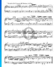 Variaciones Goldberg, BWV 988: Variación 24. Canone all' Ottava. a 1 clave