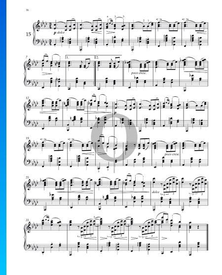 Walzer, Op. 39 Nr.15 Musik-Noten