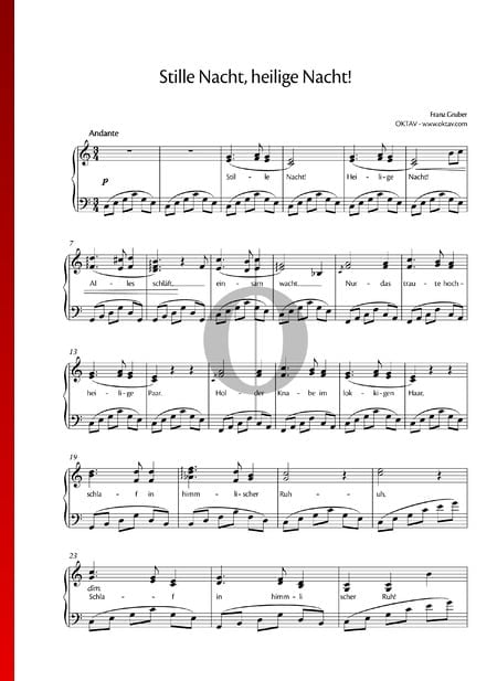 Stille Nacht, heilige Nacht Musik-Noten