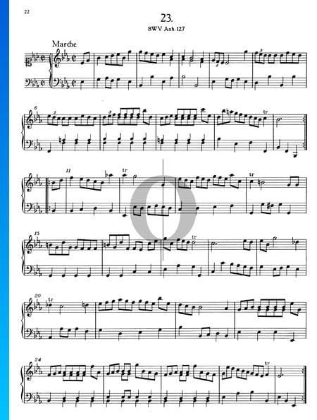 Marche en Mi bémol Majeur, BWV Anh. 127 Partition