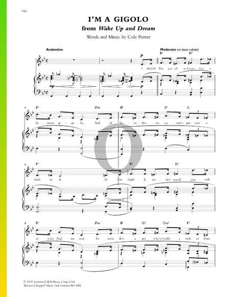 I'm A Gigolo Musik-Noten