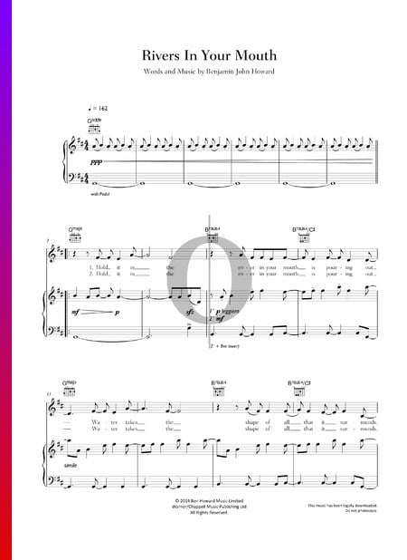Rivers In Your Mouth Sheet Music