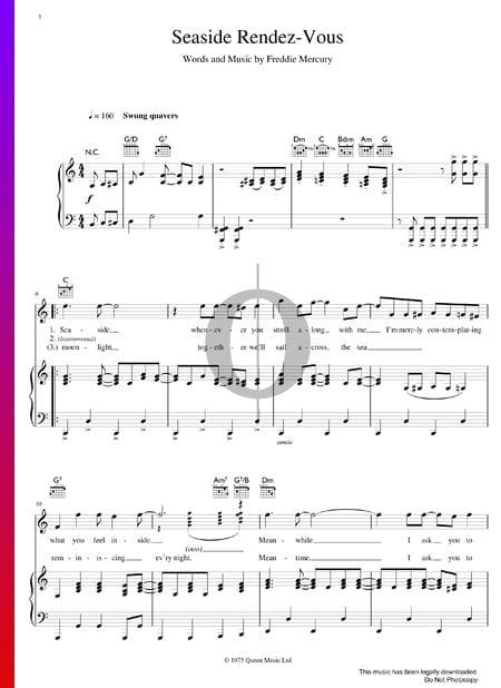 Seaside Rendez-Vous Musik-Noten