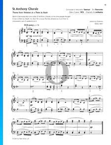 Variationen über ein Thema von Haydn, Op. 56a: 1. Thema, Chorale St. Antoni