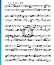 Variations Goldberg, BWV 988: Variatio 7. à 1 ô vero 2 Clav.