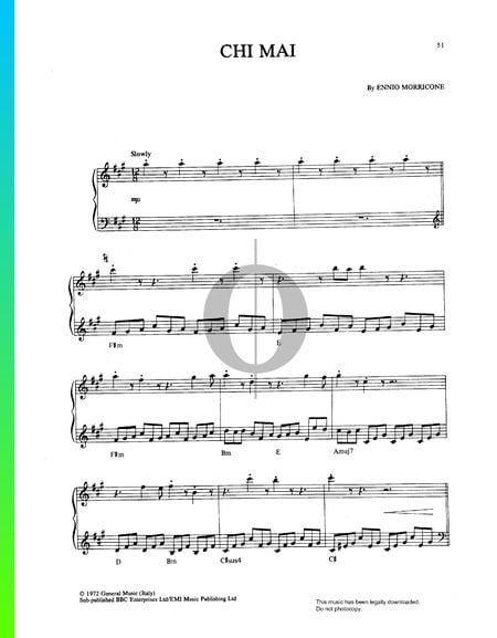 Chi Mai Sheet Music