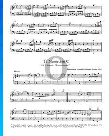 Menuett in C-Dur, KV 6: Nr. 1