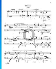 Prélude en Do dièse mineur, Op. 45 No. 25