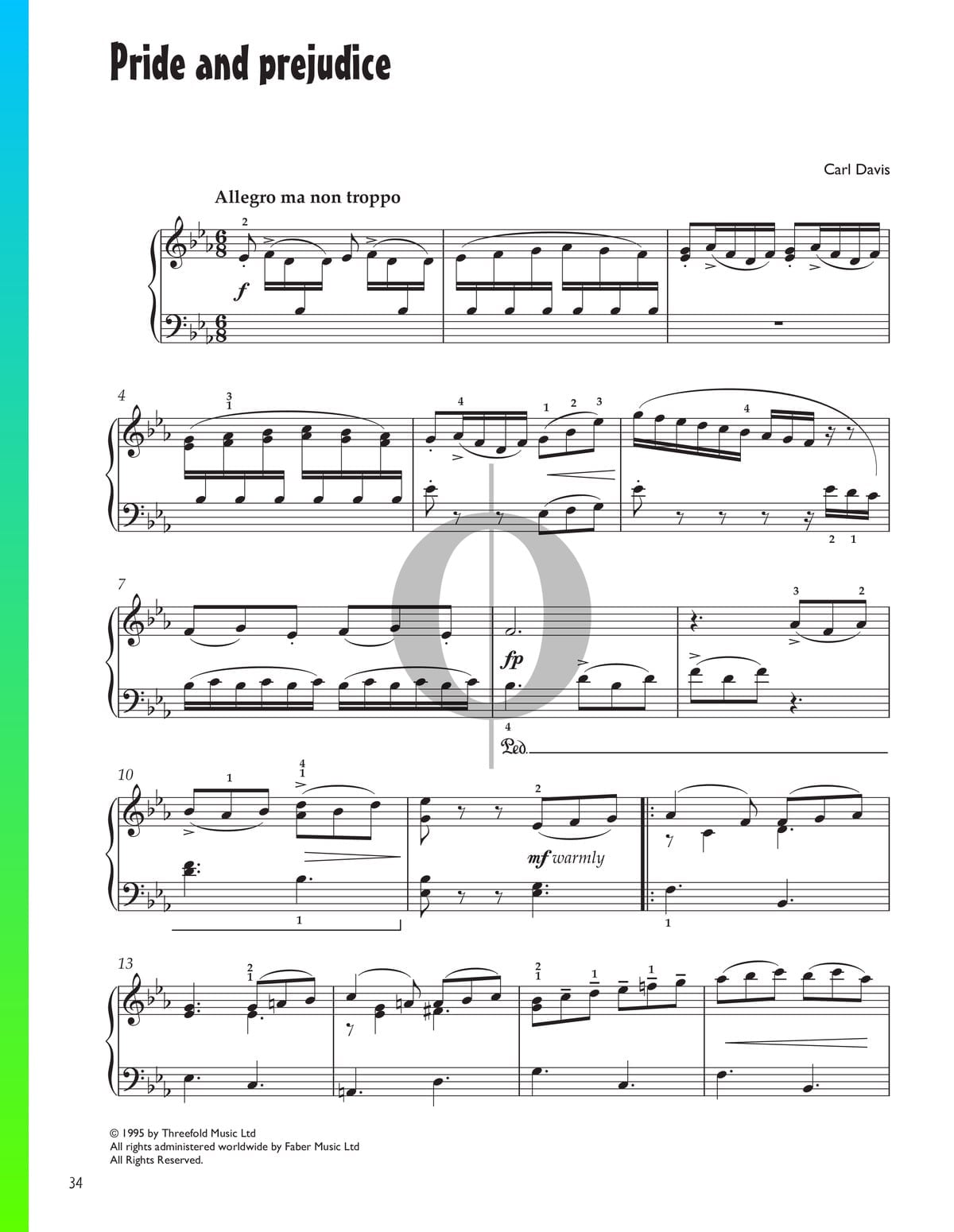 ▷ Pride And Prejudice Sheet Music (Piano Solo) - PDF